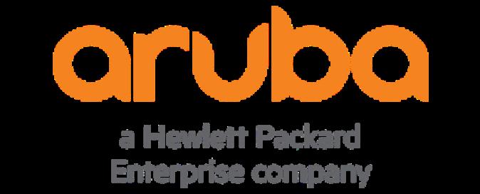 Aruba - A Hewlett Packard Enterprise company logo